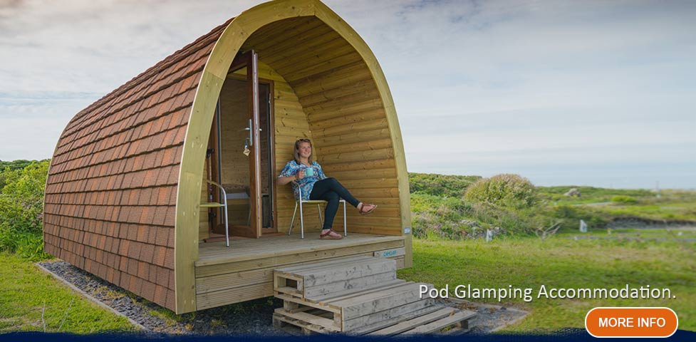 Two Glamping pods